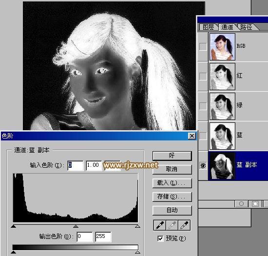 ps通道抠出复杂头发丝(3)图片